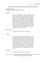 a gestão do valor de marca no ponto de vendas - Unisantos