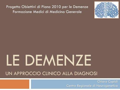 Le demenze - Univa Calabria