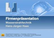 WST Haas PDF Präsentation - Wasserstrahltechnik Hans-Jürgen Haas