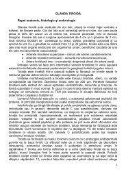 GLANDA TIROIDĂ Rapel anatomic, histologic şi embriologic Glanda ...
