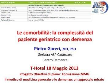 la complessità del paziente geriatrico con demenza - Univa Calabria