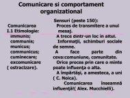 Comunicare si comportament organizational