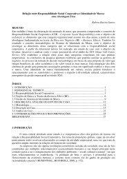 Relação entre Responsabilidade Social Corporativa e ... - Uniethos