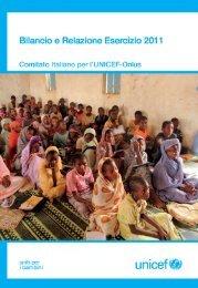 Bilancio Consuntivo 2011 del Comitato Italiano per l'UNICEF
