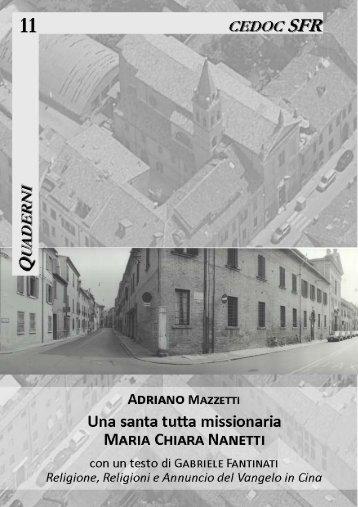 11 Una santa tutta missionaria. Maria Chiara Nanetti - Parrocchia di ...