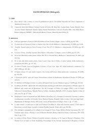DAVID SPERANZI: Bibliografia - Archivio Capitolare di Pistoia