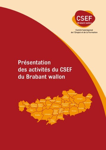 Télécharger la brochure d'activités - CSEF Brabant Wallon