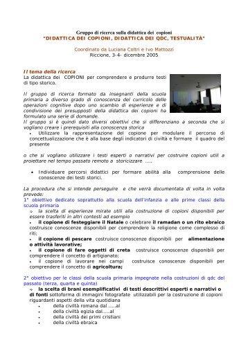 Gruppo di ricerca sulla didattica dei copioni e - Clio 92