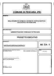 Capitolato Speciale d'Appalto - Comune di Pescara