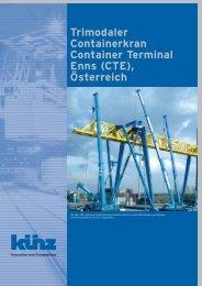 Trimodaler Containerkran Container Terminal Enns (CTE), Österreich
