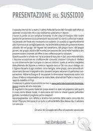 PRESENTAZIONE DEL SUSSIDIO - DIOCESI di Padova