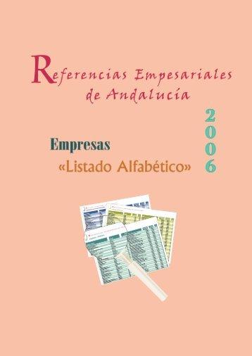 LISTADO de EMPRESAS por ORDEN ALFABÉTICO - Economía ...