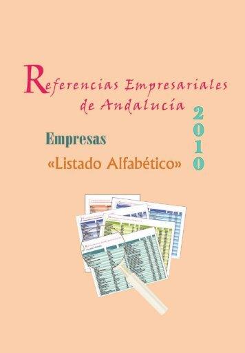 Listado Alfabético - Economía Andaluza