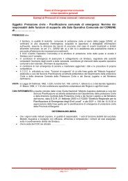 Nomina componenti del COC - Provincia di Milano