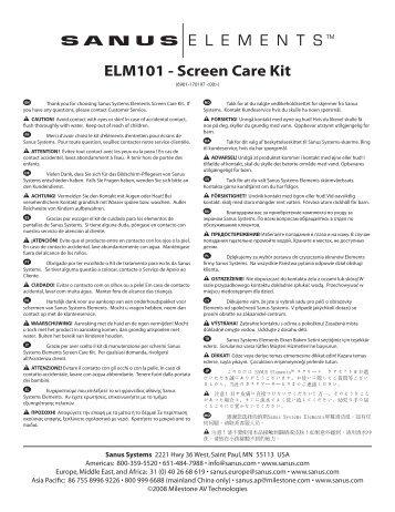 ELM101 - Screen Care Kit - Sanus