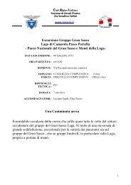 Escursione del 4 Settembre 2011 - CAI Sezione di Ascoli Piceno