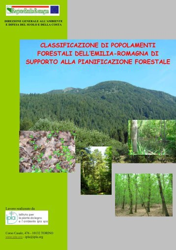 classificazione di popolamenti forestali dell - Ambiente - Regione ...