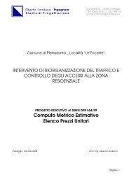 Computo Metrico Estimativo ed Elenco Prezzi Unitari - Comune di ...