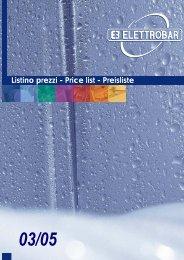Listino prezzi - Price list - Preisliste - Jacio Indicius