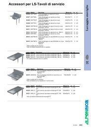 Accessori per LS-Tavoli di servizio Lavaggio ... - Itel Grandi Cucine