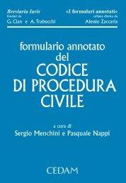 Formulario annotato del codice di procedura civile - Cedam