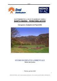 Enel Distribuzione S.P.A. - sintesi non tecnica - Provincia di Bologna