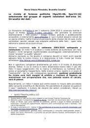 Le riviste di Scienze politiche (Sps/01-06, Sps/13 ... - Archivio Marini