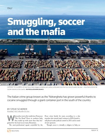 Smuggling, soccer and the mafia - Thomson Reuters