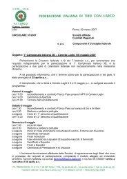 Oggetto: 1° Campionato Italiano 3D – Cerreto Laghi, 5/6 ... - FITArco
