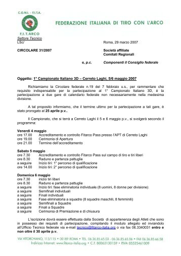 Calendario Gare Fitarco.30 Free Magazines From Fitarco Italia Org