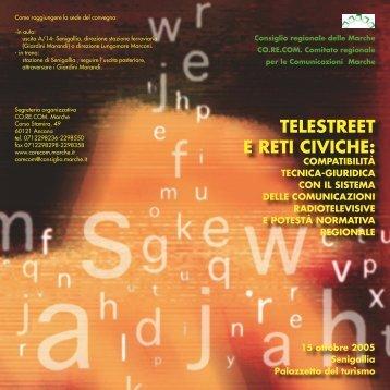 Telestreet e reti civiche - invito - Corecom Marche