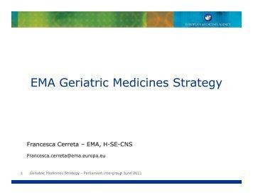 Francesca Cerreta, European Medicines Agency - AGE Platform ...