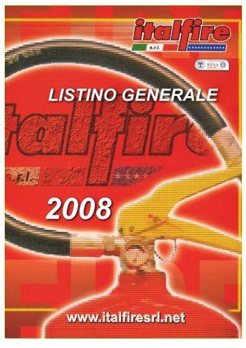 Listino prezzi CATALOGO GENERALE ITALFIRE 2008