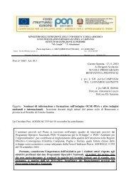 Prot. n° 6067 AA 10.3 Cerreto Sannita, 17-11-2010 Ai Dirigenti ...
