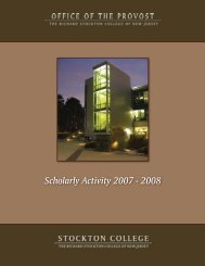Scholarly activity cover_08.indd - Richard Stockton College of New ...