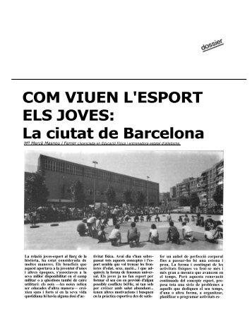 COM VIUEN L'ESPORT ELS JOVES: La ciutat de Barcelona - apunts