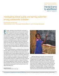 Investigating school quality and learning outcomes among ...