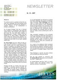 NEWSLETTER - Jeeves Group