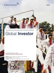 Global Investor - Credit Suisse eMagazine - Deutschland