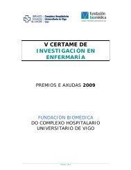 Certame de Investigación en Enfermaría - Bases 2009 - Sergas