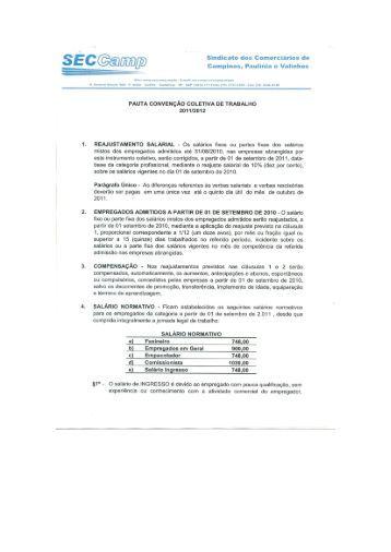 Sindicato dos Comerciários de Campinas, Paulinia e Valinhos