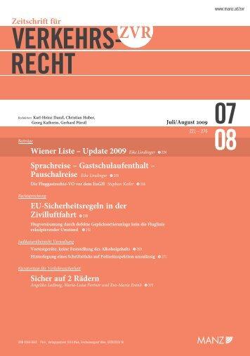 VERKEHRS- RECHT 08 07