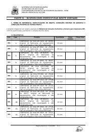 PARTE B – DISPOSIÇÕES ESPECÍFICAS DESTE CERTAME - Uesb