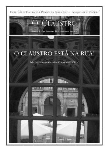 O CLAUSTRO ESTÁ NA RUA! - Universidade de Coimbra