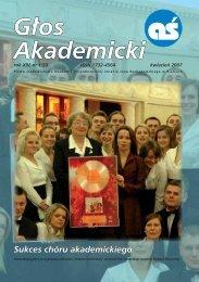 Głos Akademicki - kwiecień 2007 - Uniwersytet Jana ...