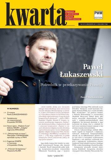 Kwarta nr 2(17) grudzień 2011 - Polskie Wydawnictwo Muzyczne SA