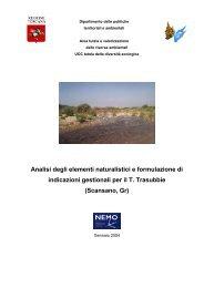 Analisi degli elementi naturalistici e formulazione di indicazioni ...