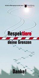 Liebe Wintersport - Respektiere deine Grenzen