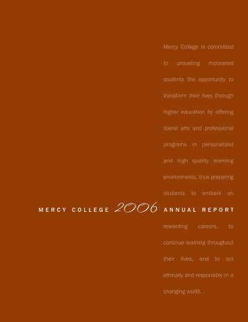 Mercy College is committed to providing motivated students the ...
