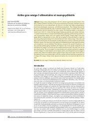 Acides gras oméga-3 alimentaires et neuropsychiatrie - Jean-Marie ...
